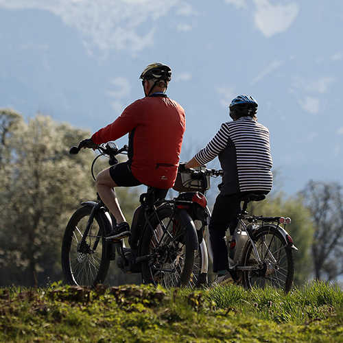 Biking am Schliersee