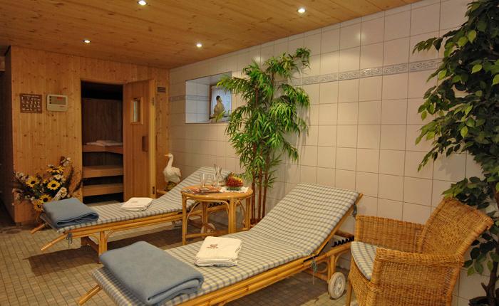 Ruheraum und Sauna beim Lechner am See